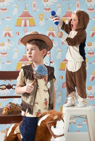 Circus - Blue kids wallpaper