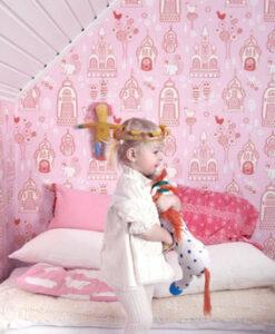 Palace Garden pink wallpaper