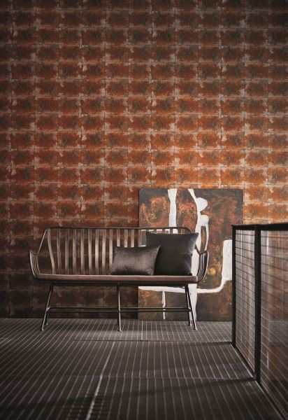 Harlequin Oxidise Copper Slate wallpaper