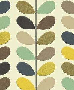 Multi Stem - Orla Kiely Wallpaper - Seagreen colourway