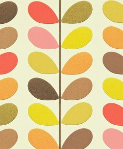 Multi Stem - Orla Kiely Wallpaper - Hibiscus colourway