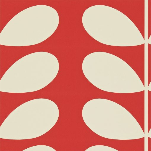 Giant Stem Wallpaper by Orla Kiely - Red