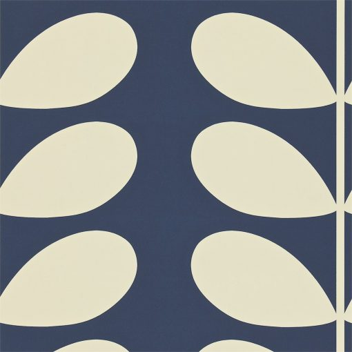 Giant Stem Wallpaper by Orla Kiely - Midnight Blue