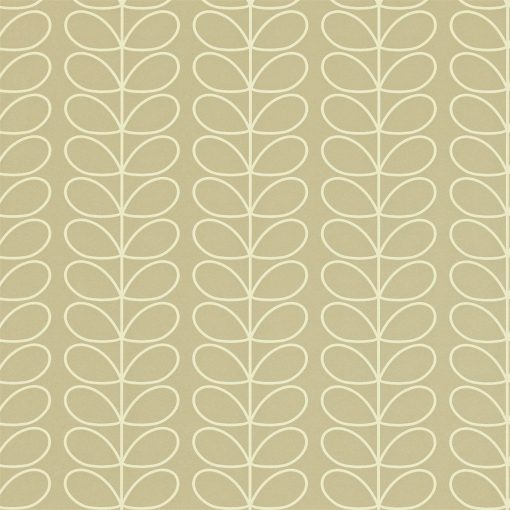 Linear Stem wallpaper by Orla Kiely - Stone
