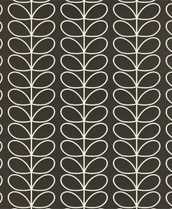 Linear Stem wallpaper by Orla Kiely - Graphite