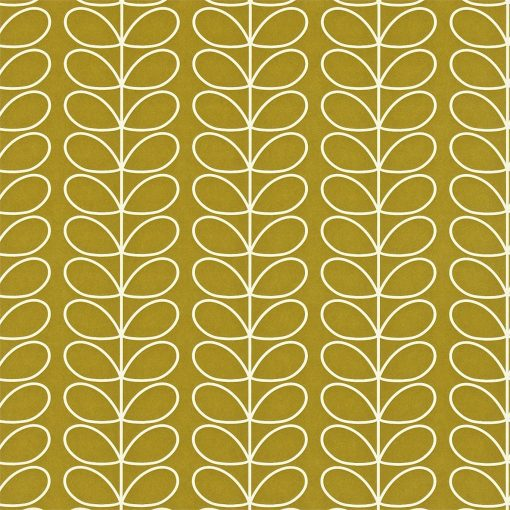 Linear Stem wallpaper by Orla Kiley - Olive