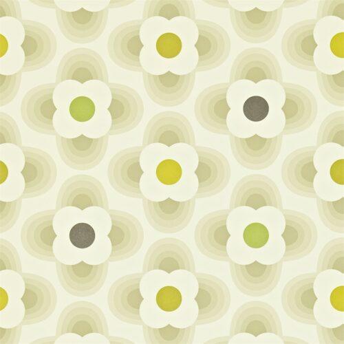 Multi Striped Petal Warm Calico - wallpaper by Orla Kiely