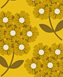 Giant Rhododendron wallpaper in lichen by Orla Kiely