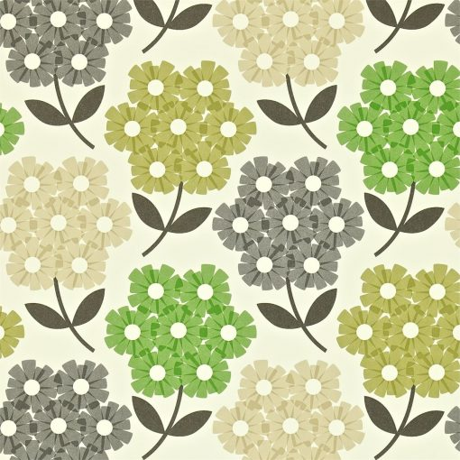 Rhododendron - Nettle - Orla Kiely Wallpaper