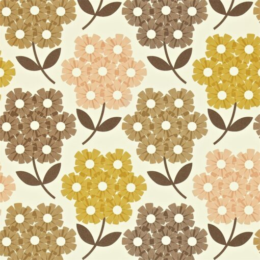 Rhododendron - Tea Rose - Orla Kiely Wallpaper