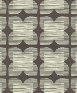 Flower Tile - Orla Kiely Wallpaper - Graphite