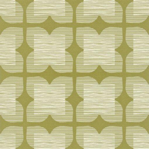 Flower Tile - Orla Kiely Wallpaper - Bay Leaf