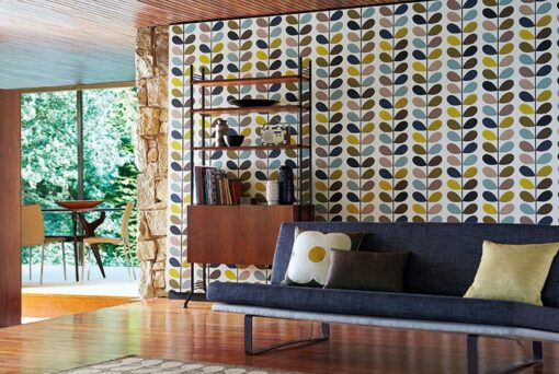 Multi Stem wallpaper by Orla Kiely