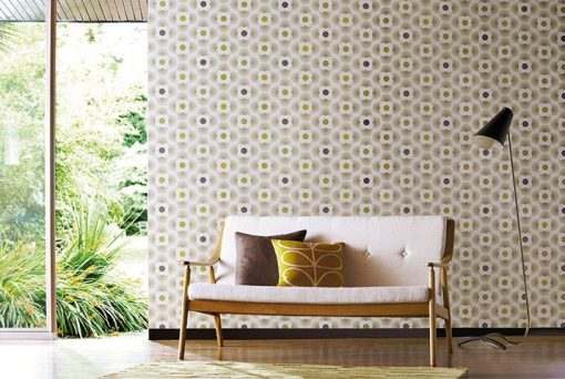 Harlequin Multi Striped Petal Wallpaper