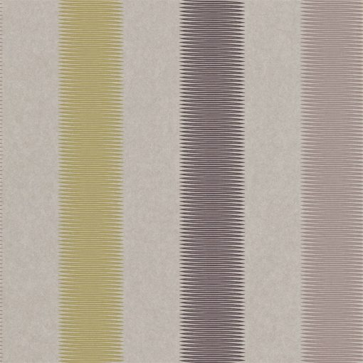 Tambo striped wallpaper - Stone, Charcoal and Olive