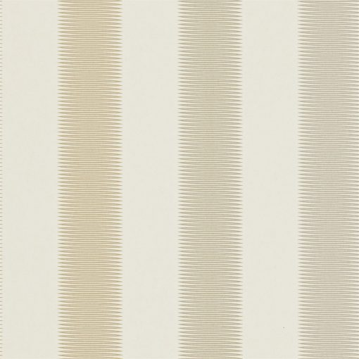 Tambo striped wallpaper - Gold, gilver and silver