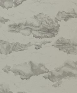 Nuvola wallpaper - Charcoal silver