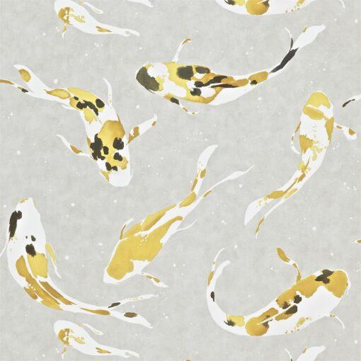 Momentum Wallcoverings 03 by Harlequin Wallpaper- Koi in Saffron