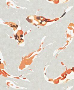 Momentum Wallcoverings 03 by Harlequin Wallpaper- Koi in Paprika
