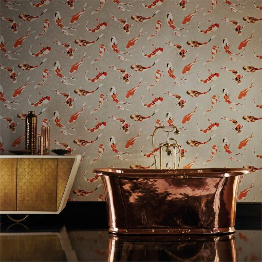 Harlequin Koi Wallpaper from the Momentum 03 Collection