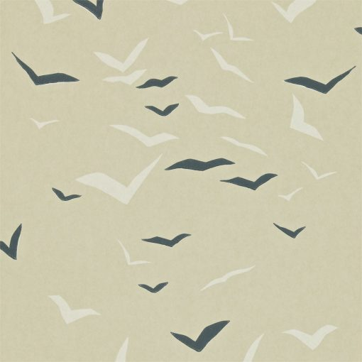 Flight wallpaper in Granite Chalk and Putty. Part of the Melinki Collection by Scio