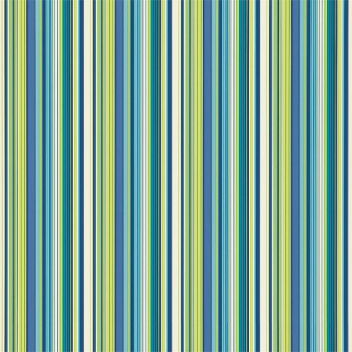 Strata wallpaper in Peacock, Lime, Emerald and Indigo. Part of the Melinki Collection by Scio