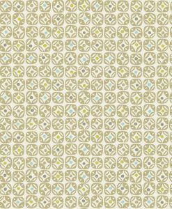 Lace wallpaper in Powder Blue. Lime, Hemp and Chalk. Part of the Melinki Collection by Scio