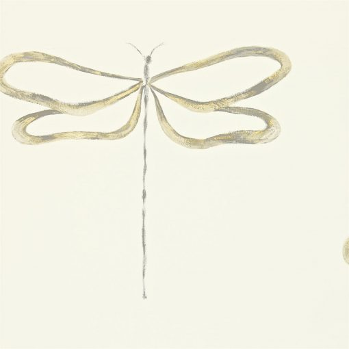 Dragonfly wallpaper, part of the Melinki Collection by Scion - Gilver, Champagne & Smoke