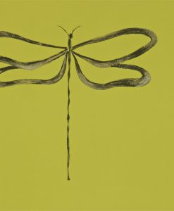 Dragonfly wallpaper, part of the Melinki Collection by Scion - Avocado, Gilver & Pewter