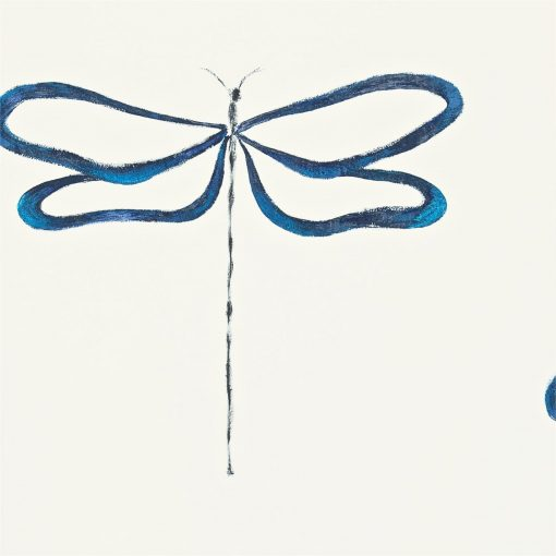 Dragonfly wallpaper, part of the Melinki Collection by Scion - Indigo, Peacock & Chalk