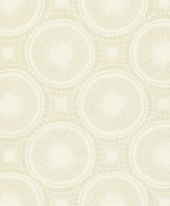 Tree Circles wallpaper from the Melinki Collection by Scion in Pebble & Chalk
