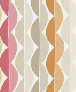 Yoki wallpaper by Scion in Terracotta/Amber