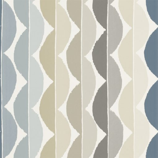 Yoki wallpaper by Scion in Slate/Denim
