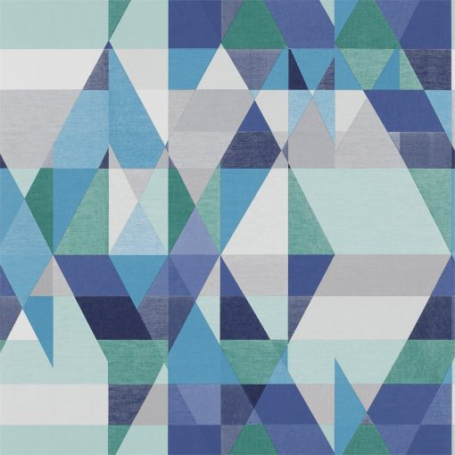 Axis wallpaper by Scion in Sapphire/Turquoise/Slate