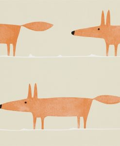 Mr Fox wallpaper in ginger