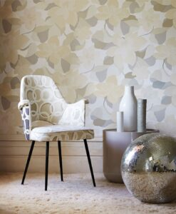 Diva wallpaper by Scion in Graphite/Linen