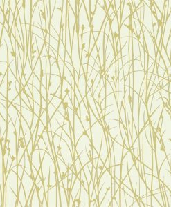 Grasses wallpaper from the Kallianthi Collection by Harlequin, in Ecru and Celery