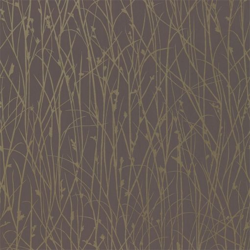 Grasses wallpaper from the Kallianthi Collection by Harlequin, in Zinc and Pewter
