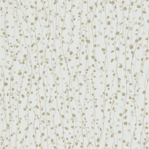 Beads wallpaper from the Kallianthi Collection by Harlequin, in White, Pebble and Pewter