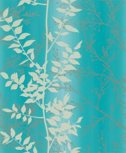 Persphone wallpaper from the Kallianthi Collection by Harlequin, in Aqua, Honeycomb and Pewter
