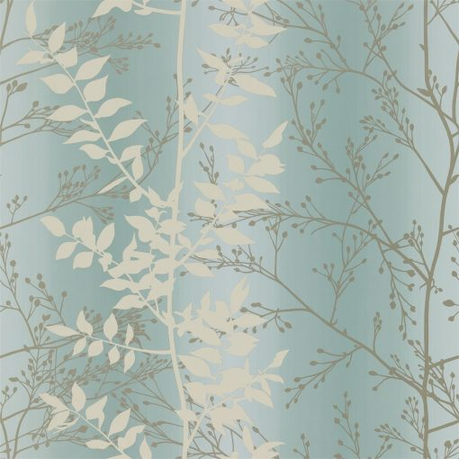 Persphone wallpaper from the Kallianthi Collection by Harlequin, in Steel and Putty