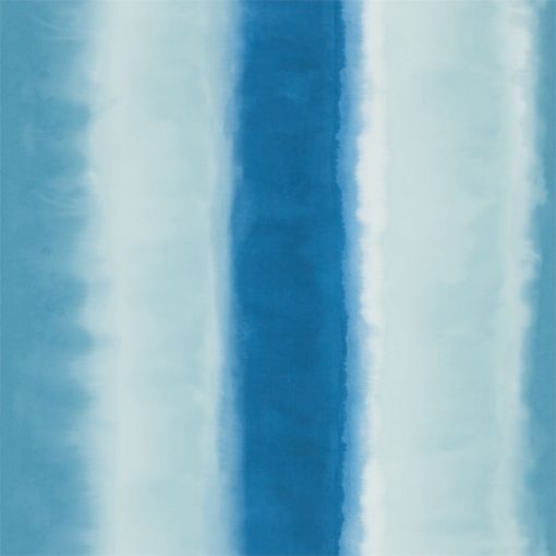 Demeter Stripe wallpaper from the Kallianthi Collection by Harlequin, in Indigo, Ice and French Navy