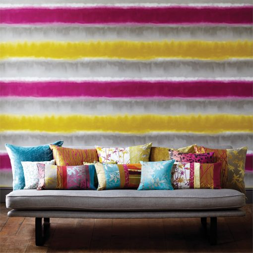 Harlequin Demeter Stripe wallpaper from the Kallianthi Collection