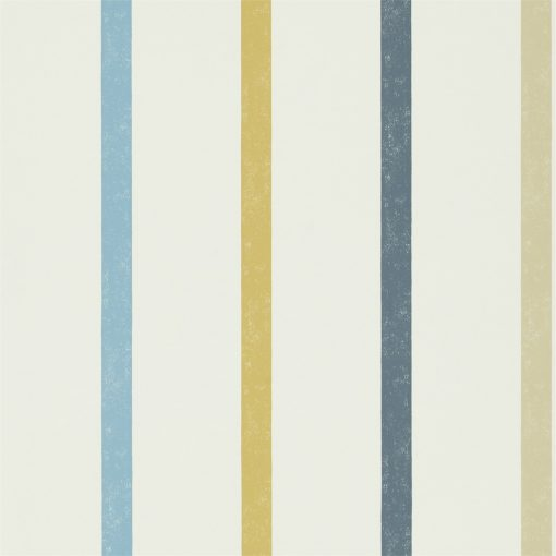 Hoppa Stripe wallpaper from the Levande Collection by Scion in Cobalt, Almond and midnight