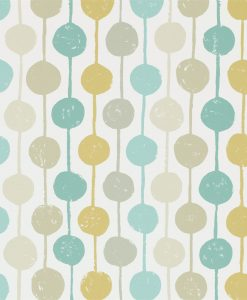 Taimi wallpaper from the Levande Collection by Scion in Seaglass, Chalk and Honey