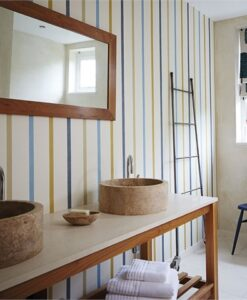 Hoppa Stripe wallpaper from the Levande Collection by Scion