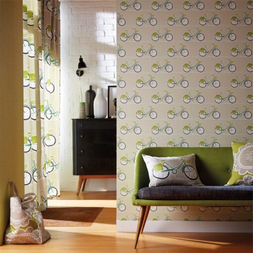 Cykel wallpaper from the Levande Collection by Scion in