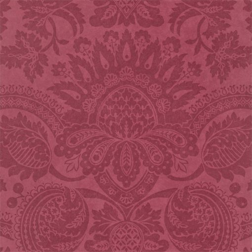 Pomegranate damask wallpaper in Red by Zophany