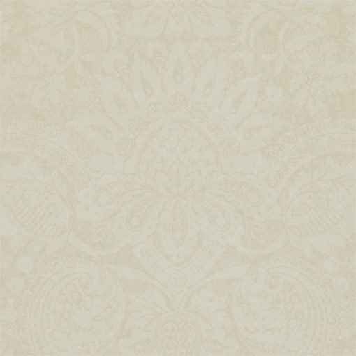 Pomegranate damask wallpaper in Calico by Zophany