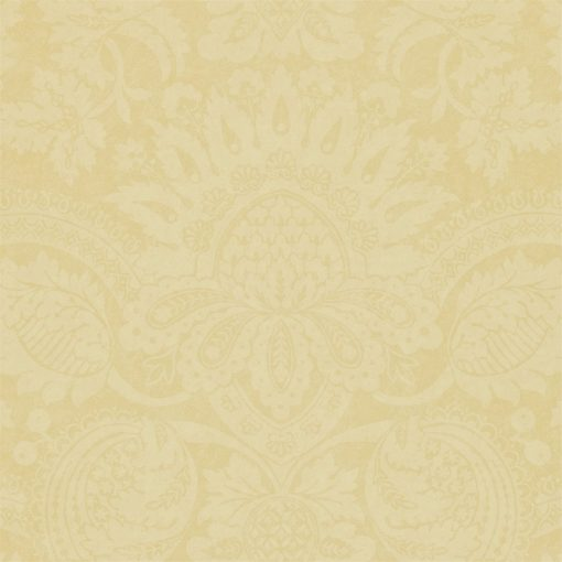 Pomegranate damask wallpaper in Canvas by Zophany